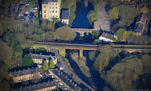 Brooksbottom Viaduct Bury  from the air