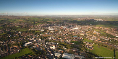Bury Lancashire UK  from the air
