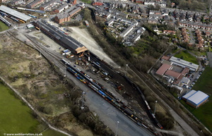 railway yards at Bury on the East Lancashire Railway    from the air