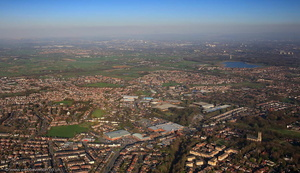 Whitefield Greater Manchester from the air