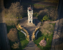 Whitehead Clock Tower, Bury from the air