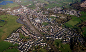 Carnforth Lancashire UK from the air