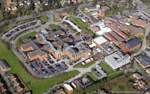 Chorley and South Ribble District General Hospital  from the air