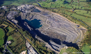 Bankfield Quarry Clitheroee from the air