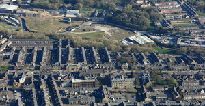 Albert Rd Colne Lancashire from the air