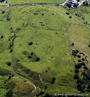Castercliff Iron Age multivallate hillfort Colne Lancashire  from the air