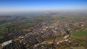 Colne Lancashire from the air