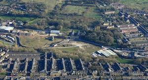 development land in Colne  Lancashire from the air