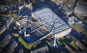 Belgrave Mills Darwen Lancs from the air