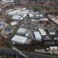 Windmill Lane Industrial Estate Denton M34 from the air