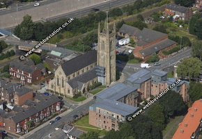 Eccles Greater Manchester aerial photograph