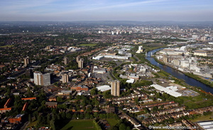 Eccles Greater Manchester, from the air
