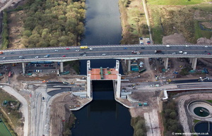 New Barton  Bridge at Dumplighton Eccles aerial photo