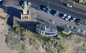 Beech  Lighthouse in Fleetwood Lancashire from the air