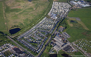 Cala Gran Holiday Park Fleetwood Lancashire from the air