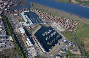 Fleetwood Haven Marina Lancashire from the air
