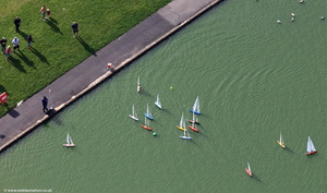 Fleetwood model yacht pond  from the air