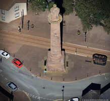 Pharos Lighthouse in Fleetwood Lancashire  from the air