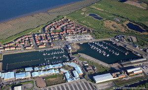 Port of Fleetwood Lancashire from the air