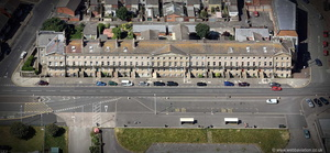 Queen's Terrace  Fleetwood Lancashire from the air