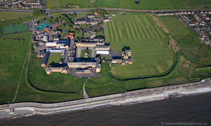 Rossall School Fleetwood Lancashire from the air