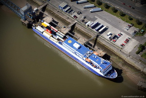Stena Car Ferry Fleetwood Lancashire from the air