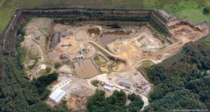 Brinscall Quarry, Lancashire from the air