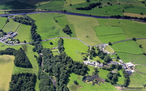 Galacum  Roman fort at Burrow in Lonsdale Lancashire  from the air