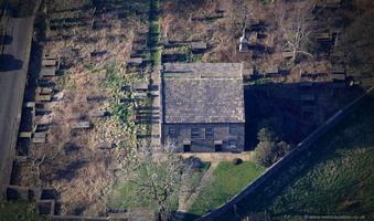 Goodshaw Chapel Lancashire  from the air