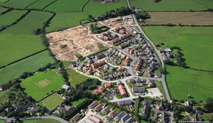 new houses Great Eccleston Lancashire from the air