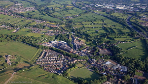 Higher Walton, Lancashire from the air