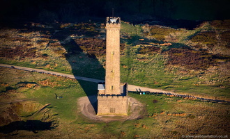 "Peel Monument ""Holcombe Tower"" Great Manchester aerial photograph"