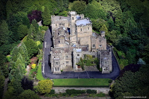 Hornby  Castle Lancashire  from the air