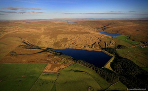 Hurstwood Reservoir aerial photograph