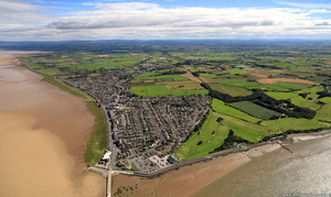 Knott End-on-Sea from the air