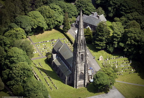 Our Lady and All Saints Church, Parbold from the air