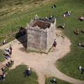Rivington Pike Tower from the air