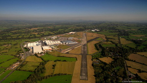 BAE Samlesbury factory and airfield aerial photo
