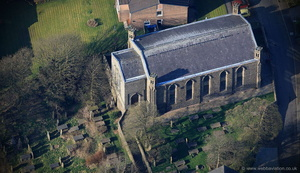 St Mary and All Saints Church Goodshaw Lancashire  from the air