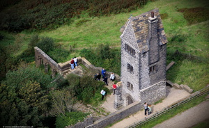 The Pigeon Tower , Rivington Gardensfrom the air