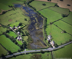 Thistleton Brook in flood from the air