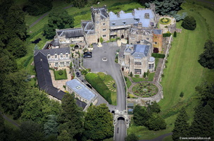 Thurland Castle Lancashire  from the air