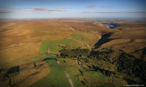 Thursden and the Burnley Way aerial photograph