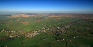 Trawden Lancashire from the air