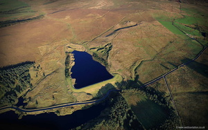 Upper Coldwell Reservoir  aerial photograph