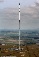Winter Hill transmitting station from the air