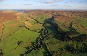 Wycoller Lancashire  aerial photograph
