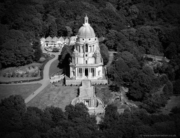 Ashton Memorial in Williamson Park,  Lancaster from the air