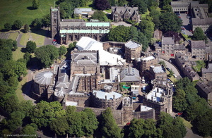 Lancaster Castle from the air