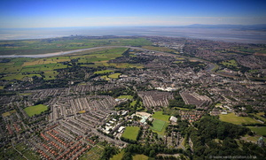 Lancaster, Lancashire from the air